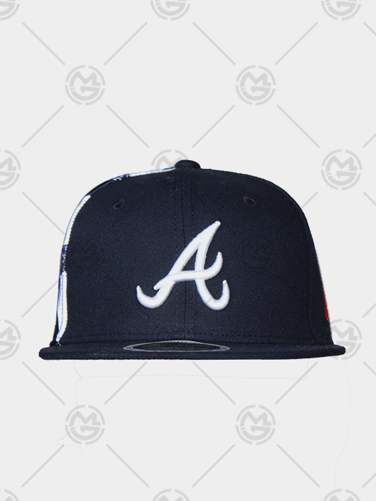 fd005e6717266 GORRA NEW ERA ATLANTA BRAVES 59 FIFTY PLANA AZUL-REFLECTIVE